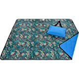 roebury 野餐毯 – 防水户外毛毯 – L 码超大 sandproof 海滩垫适用于旅行或露营 . 折叠 into…