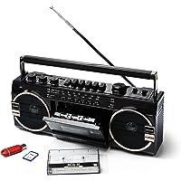 Ricatech schein Ghettoblaster PR1980 2 x 8瓦内置X低音扬声器 USB + SD…