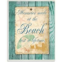 The Stupell Home Decor Collection Memories Made at The Beach Art Print on Wood