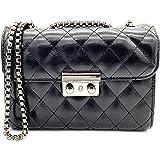 女式钱包和手提包斜挎包 - qenuie 皮革颜色(黑色)