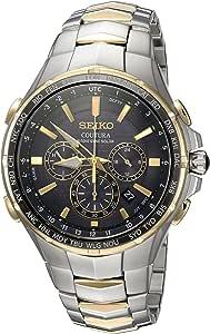 "Seiko 男士""COUTURA""石英不锈钢休闲手表,颜色:双色调(型号:SSG010)"
