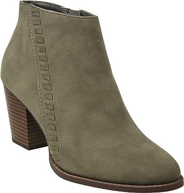 MVE Shoes 女式麂皮冬季低跟短靴 L-olive*r 5.5