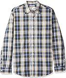 Amazon Essentials 男士标准版型长袖格子休闲府绸衬衫
