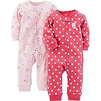 Simple Joys by Carter's 女婴 2 件装棉质无脚*和玩耍