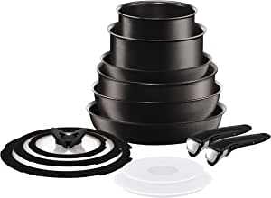 T-fal 特福 L6509042 Ingenio Expertise 不粘锅电磁炉炊具套装,13件,黑色