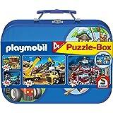 SCHMIDT Playmobil 拼图套装,含 4 块拼图