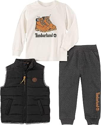 Timberland 添柏岚 男童3件套 蓬松背心套装