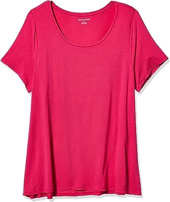Amazon Essentials 女式加大码短袖圆领摆 T 恤