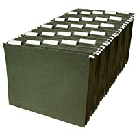 AmazonBasics 悬挂 File folders – 字母尺码,绿色,25片装
