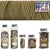 TOUGH-GRID 550lb 伞绳/降落伞绳 - * 尼龙正品 Mil-Spec III 型伞绳 - 适用于手镯和挂绳 - 美国制造。