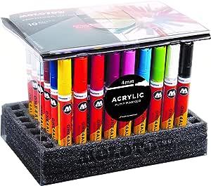 Molotow ONE4ALL 亚克力颜料笔全套,4 毫米,多色,50 支笔,每套 1 套 (200.645)