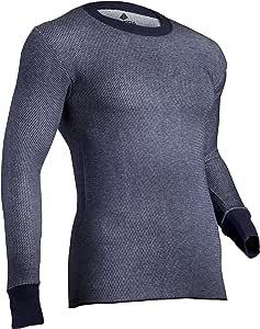 Indera 男士双面Raschel 针织性能保暖内衣上装,Silvadur