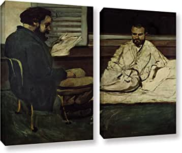 ArtWall 2 Piece Paul Cezanne's Paul Alexis Reading a Manuscript to Emile Zola Gallery Wrapped Canvas Set, 24 x 32""