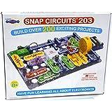Snap Circuits 203 电子探索套装  超过200个STEM项目  四色工程手册  42个Snap模块  无限乐趣