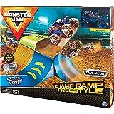 Monster Jam, 官方Champ Ramp Freestyle 玩具套装,具有1:64比例压铸Son-uva Digger怪物卡车