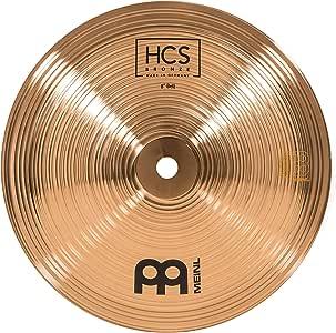 Meinl Cymbals 8 英寸铃铛,中号音距 – HCS 传统抛光青铜适用于鼓套装,德国制造,2 年质保 (HCSB8B)
