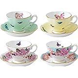 ROYAL ALBERT 40002650 米兰达可儿茶杯和茶碟(4件套),多色