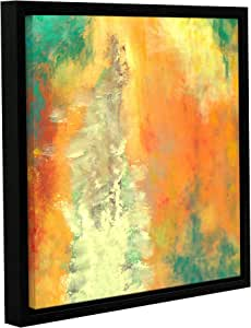 ArtWall Herb Dickinson's Abstract 204 Gallery Wrapped Floater Framed Canvas, 14 x 14""