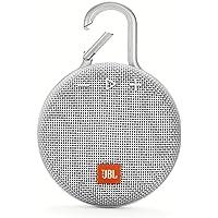 JBL CLIP3 蓝牙音箱 IPX7级防水/无源*器/便携/带铁环 白色 JBLCLIP3WHT 【国内正规品】