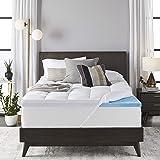 Sleep Innovations 4 英寸毛绒支撑凝胶*泡沫床垫罩 白色 加州King size G-TOP-95140-CK-WHT