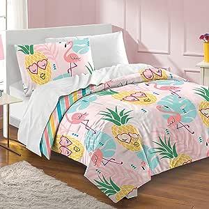 dream FACTORY 菠萝盖被套装 粉红色 两个 2A8636C1PK