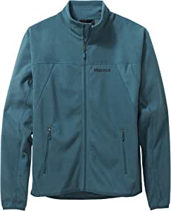 Marmot 男士皮斯加羊毛夹克,羊毛外套,全拉链户外夹克,透气,防风