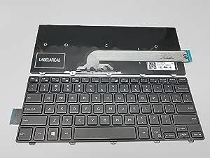 不带背光的替换键盘适用于 Dell Inspiron 14 3000 14-3000 3441 3442 3443 3445 3446 3447 3449 3451 3459 0FDKH0 NSK-LQ0SC PK13PA109 系列黑色美式布局