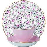 Royal Albert 新乡村玫瑰茶杯 3 件套 玫瑰红 ROSCON25870