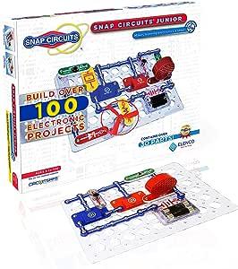 Snap Circuits SC-100 小型电子设备探索套装,儿童建筑项目集合,儿童干式工程玩具,适合8岁以上的人群