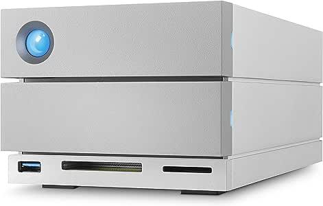 LaCie 2big Dock Thunderbolt 3 移动硬盘 20TB 型号:STGB20000400 3.5寸,RAID 1 & 2,USB-C +读卡器,适用于Mac和PC
