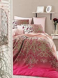 En Vogue 绗缝被单人床 Pink Fuchsia Powder Beige 155 x 200 cm 1