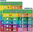 数字 1-10 视觉学习海报图表 - 层叠 18 x 24 N1-10VL