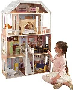 美国KidKraft萨瓦娜娃娃屋 木制仿真过家家别墅女孩玩具