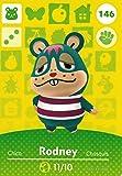 任天堂 Animal Crossing Happy Home 设计师 Amiibo 卡 Rodney 146/200 美国版