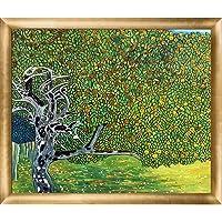 La Pastiche 金色苹果树金属装饰艺术品古斯塔夫·克利姆特创作,带新时代木框,Luminoso 框架,68.58…