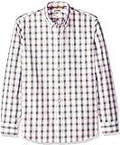 Amazon 品牌 - Goodthreads 男式标准修身长袖格子府绸衬衫,带扣角领