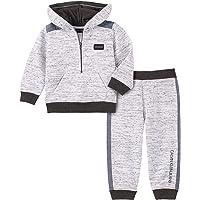 Calvin Klein 男婴2件式连帽衫长裤慢跑套装