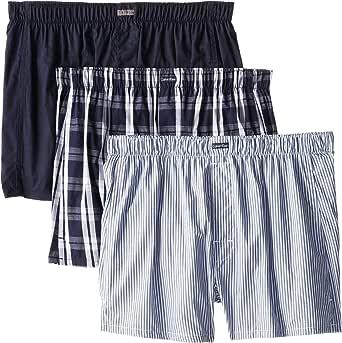 Calvin Klein 男式 经典针织棉平角内裤 多条装