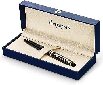 Waterman Expert钢笔  23k金饰边  精细笔尖  礼品盒,亮黑色