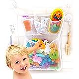 浴缸立体玩具收纳包,带多个口袋 + 赠送 4 个重型锁吸盘和耐用防霉网布可洗 + 防盗 Original + No To…