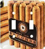 3dRose LLC lsp_35349 2 Up Close Cigars 双拨动开关