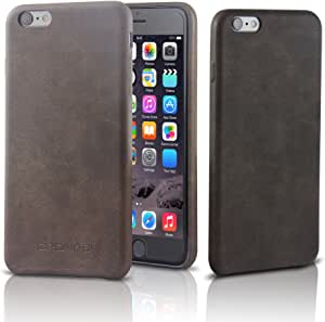 奢华 iPhone 6/6s Plus 手机壳 | 无可挑剔复古风格和皮革质量| 让您珍贵的 iPhone 6/6s 防刮/防尘| 完美纤薄| Cronos 高级手机套和配件6557897 复古棕色
