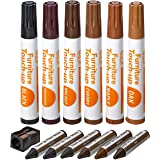 家具修复套件木质记号笔 - 13 件套 - 记号笔和蜡笔带卷笔套装,适用于染色、划痕、木地板、桌子、书桌、木工、床柱、补…