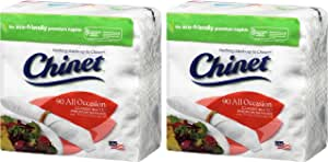 Chinet 经典白色 2 层餐巾纸,90 片 - 2 件装