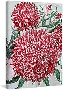 "Marmont Hill Vintage-Farm Kitchen 'Wool Flowers' canvas Wall Art, 24"" X 36"""