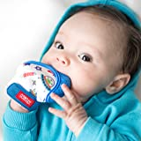 Nuby 舒缓出牙连指手套,带卫生旅行袋,蓝色