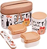 Skater斯凯达保温便当盒 560ml 午餐组合 LINE朋友 巧克力色 化妆品 560ml KCLJC6