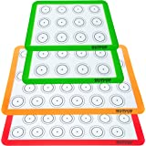 HOTPOP 4 件套可重复使用硅胶麦加仑烘焙垫 0.75 毫米(2 块半张纸衬垫和 2 夸脱纸),烘焙锅和卷的不粘硅胶衬 - 深灰/糕点/饼干/面包制作