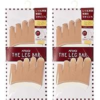 [ASTUGI] 脚套 Atsugi The Leg BAR (厚木杆)5指袜套 〈2双装〉 婴儿米色 日本 2225 (FREE 尺码)