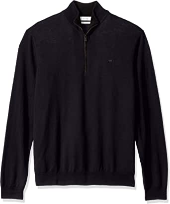 Calvin Klein 卡尔文·克莱恩 男士 Merino 带拉链毛衣 针织衫
